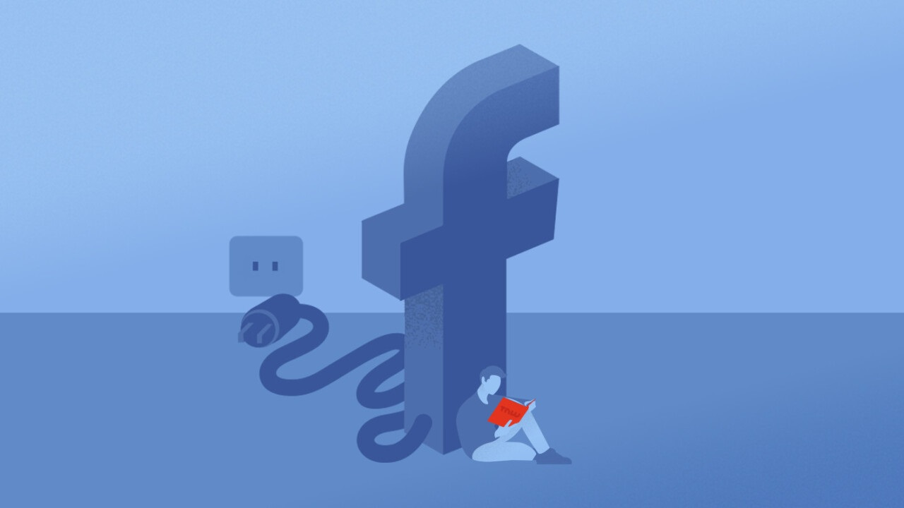 chute facebook panne